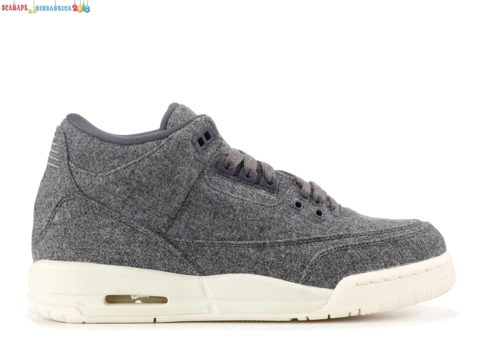 "Acquisto Air Jordan 3 Retro (Gs) ""Wool"" Grey (861427-004) Replica"
