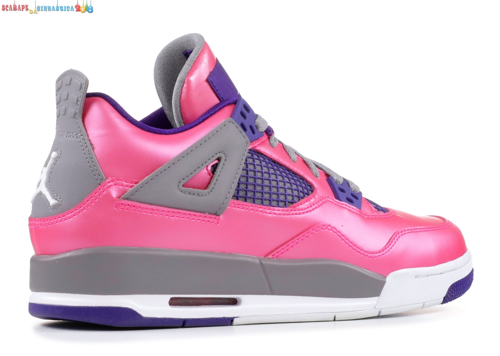 Acquisto Air Jordan 4 Retro Gs Rosa Porpora (487724-607) Replica