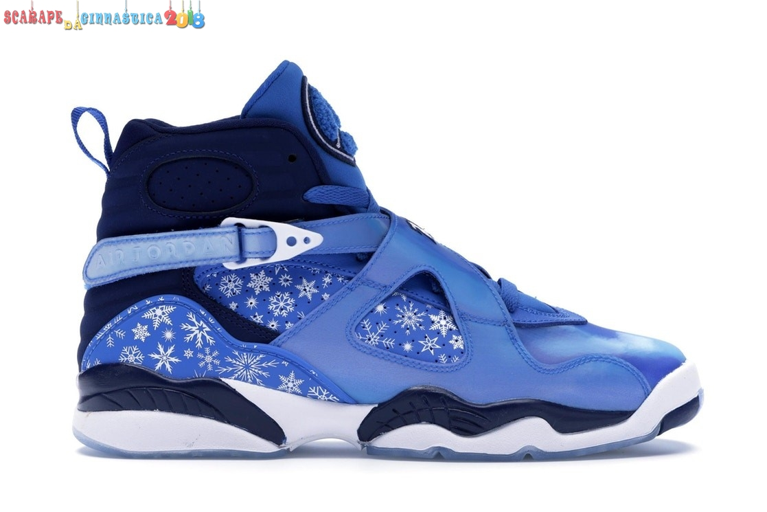 "Acquisto Air Jordan 8 (Gs) Retro ""Snow Blizzard"" Blue White (305368-400) - Scarpe da basket"