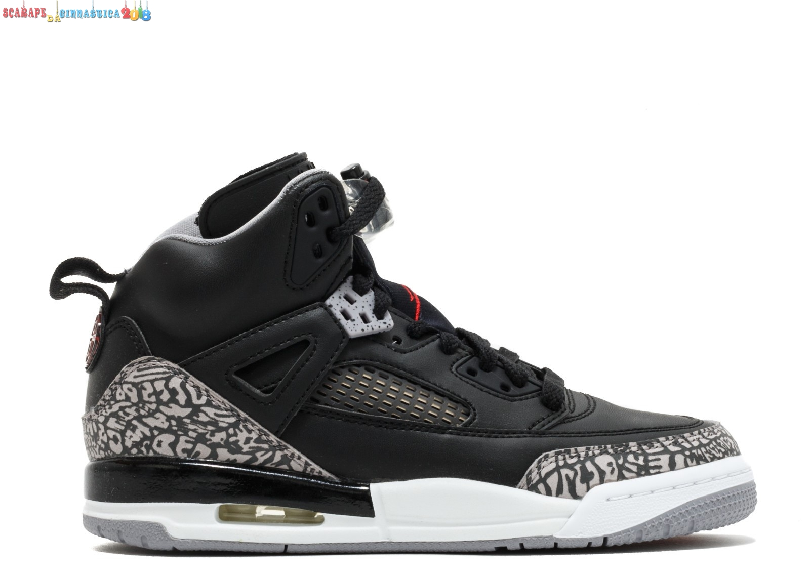 Acquisto Air Jordan Spiz'Ike Bg Nero Gris (317321-034) Replica