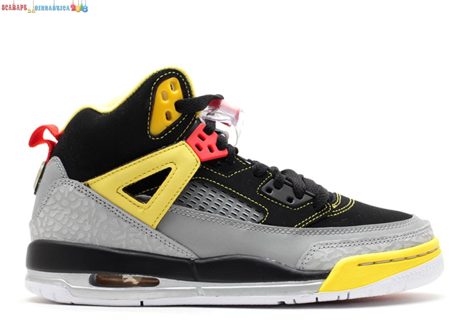 Acquisto Air Jordan Spiz'Ike (Gs) Nero Gris Giallo (317321-050) Replica