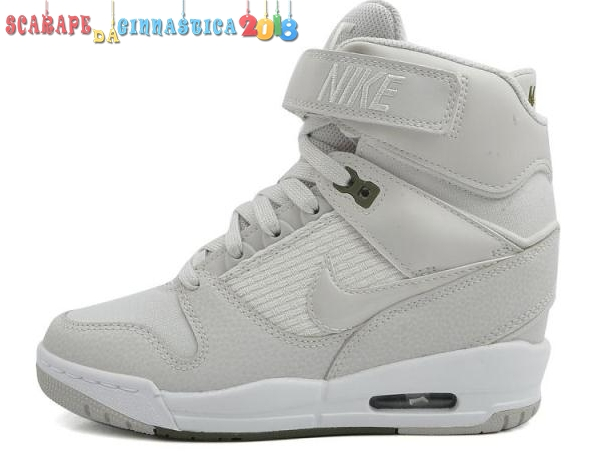 Acquisto Nike Air Revolution Sky High Wedge Sneakers Gris Bianca - Donna - SCARPE BASKET