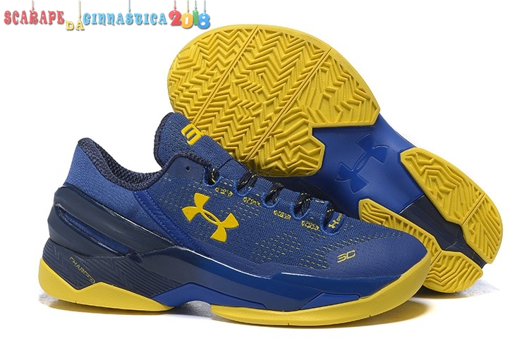 Acquisto Under Armour Curry 2 Low Blu Giallo - Uomo Replica