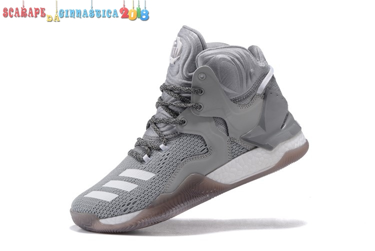 Adidas Derrick Rose Vii 7 Grey Black - Uomo Replica
