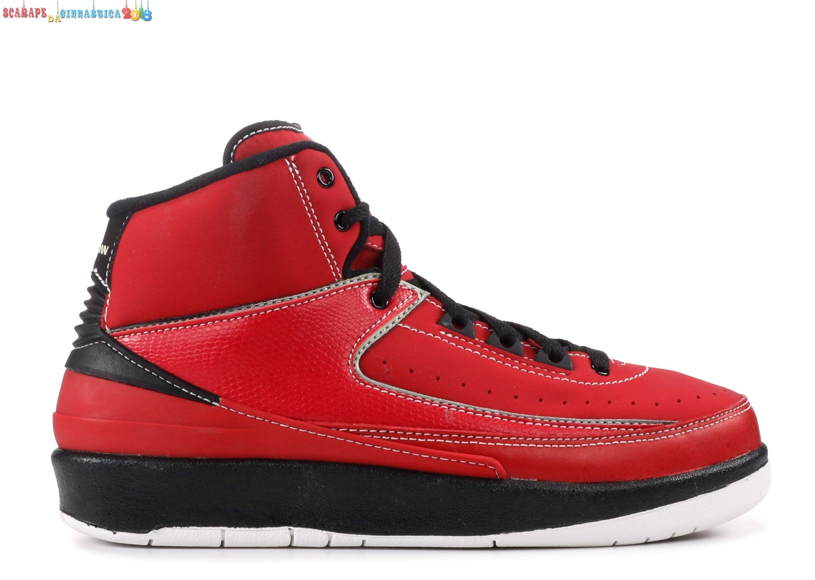 Air Jordan 2 Retro (Gs) Rosso Nero (395718-601) Replica