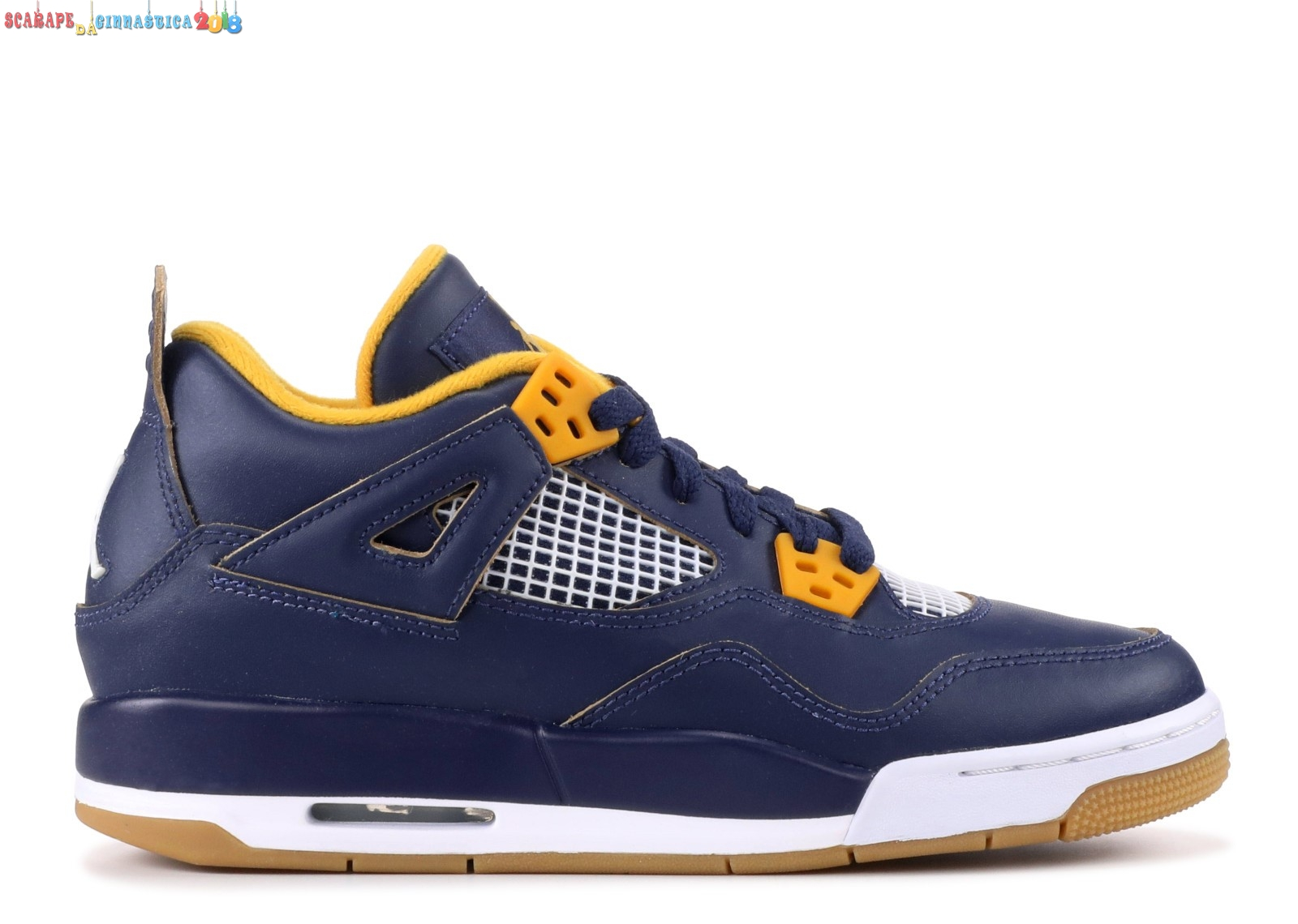 "Air Jordan 4 Retro Bg (Gs) ""Dunk From Above"" Navy (408452-425) Replica"