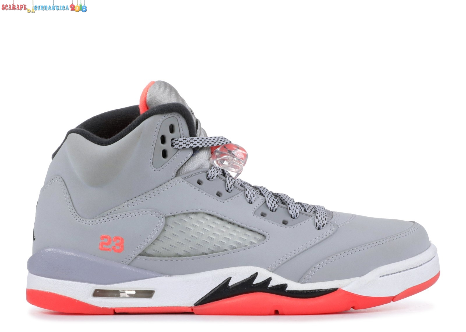"Air Jordan 5 Retro (Gs) ""Hot Lava"" Gris Arancia (440892-018) Replica"