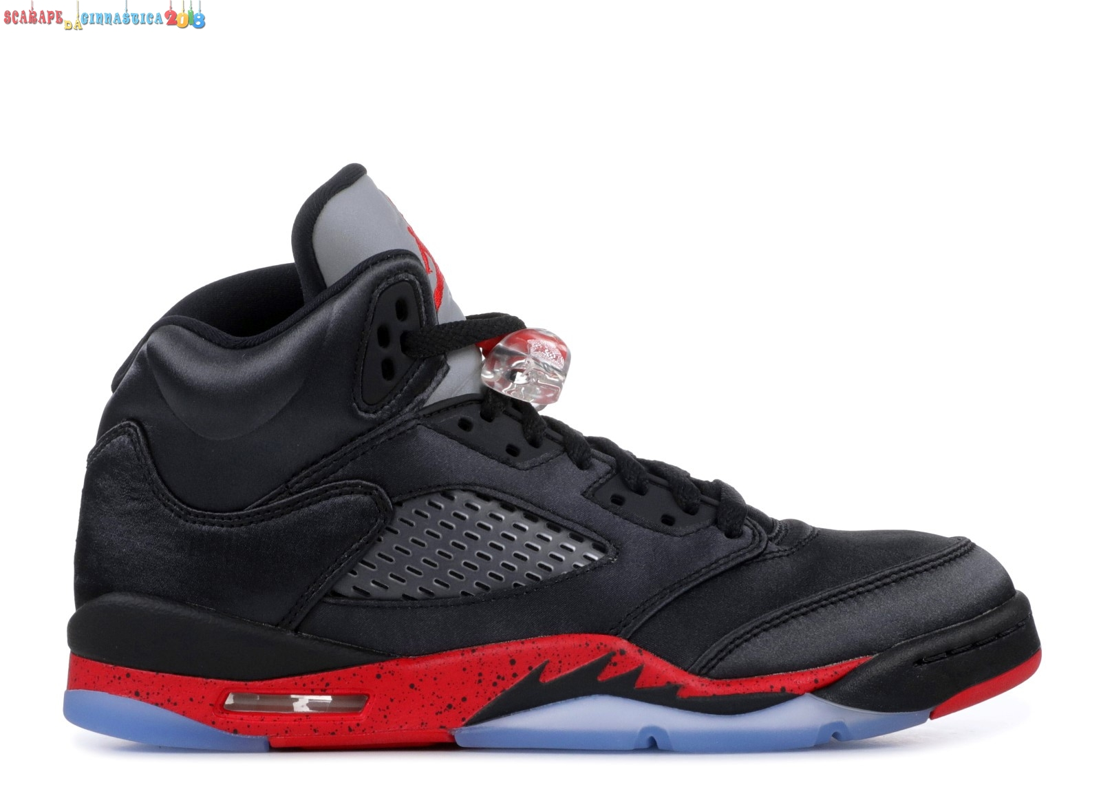 "Air Jordan 5 Retro (Gs) ""Satin"" Nero Rosso (440888-006) Replica"