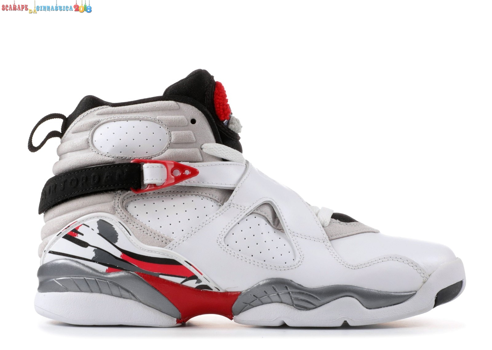 "Air Jordan 8 Retro (Gs) ""Countdown Pack"" Bianca Rosso Gris (305368-103) Replica"