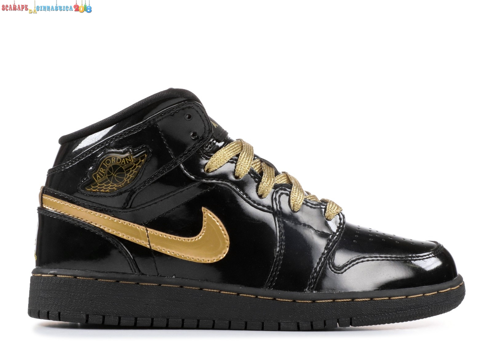 Buy Air Jordan 1 Phat (Gs) Nero Metallico Oro (364781-001) Scarpe sportive
