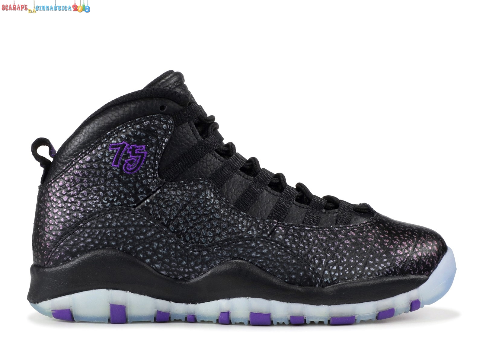 "Buy Air Jordan 10 Retro ""Paris"" Nero Porpora (310805-018) - Uomo - Scarpe da basket"