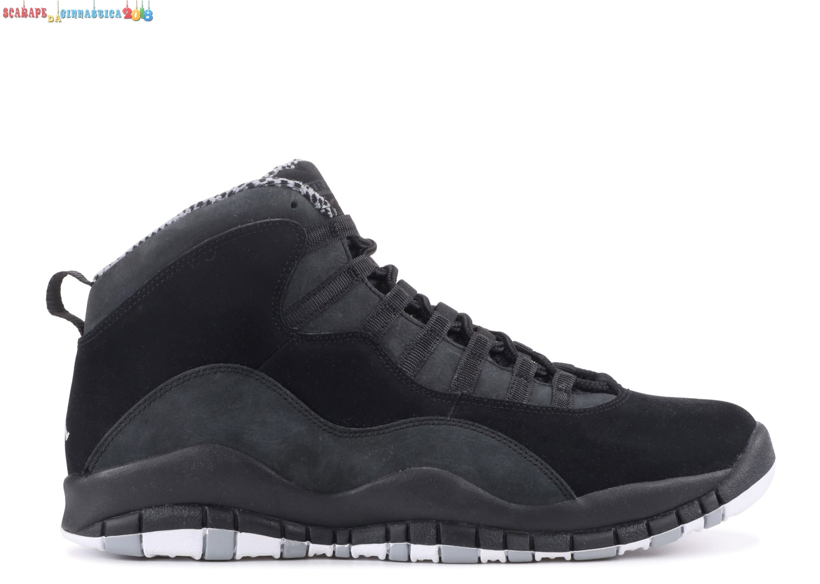 "Buy Air Jordan 10 Retro ""Stealth"" Nero Bianca (310805-003) - Uomo - Scarpe da basket"