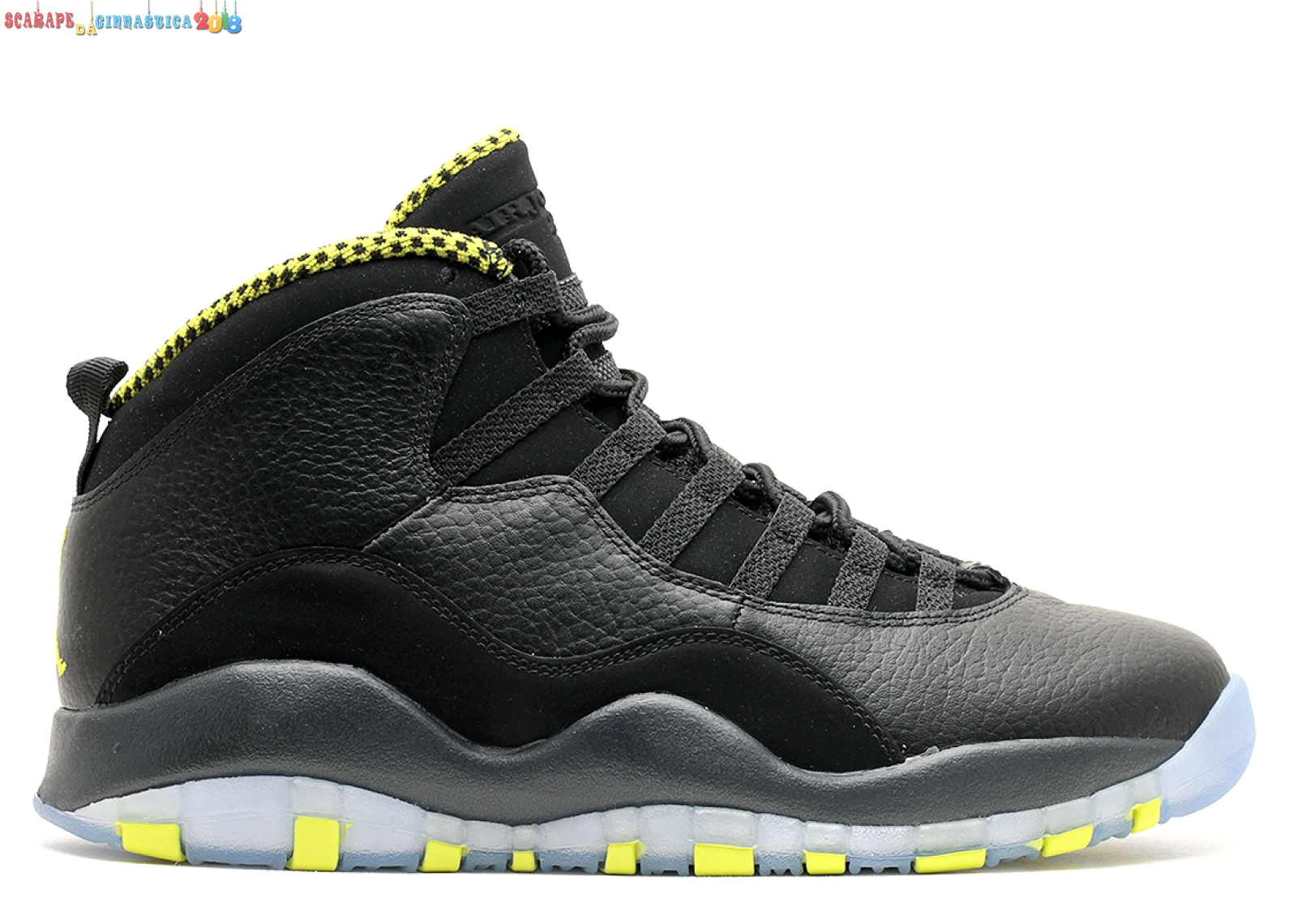"Buy Air Jordan 10 Retro ""Venom"" Nero Verde (310805-033) - Uomo - Scarpe da basket"