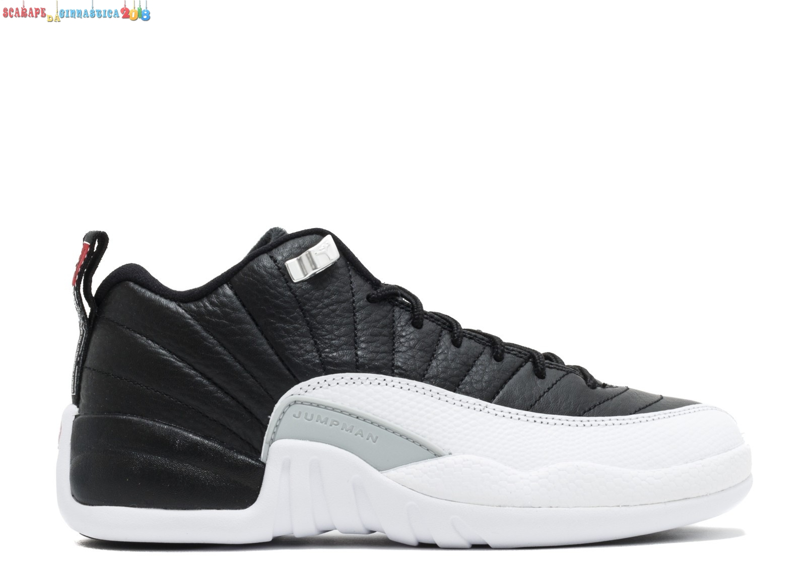 "Buy Air Jordan 12 Reto Low (Gs) ""Playoff"" Nero Bianca (308305-004) - scarpe basket migliori"