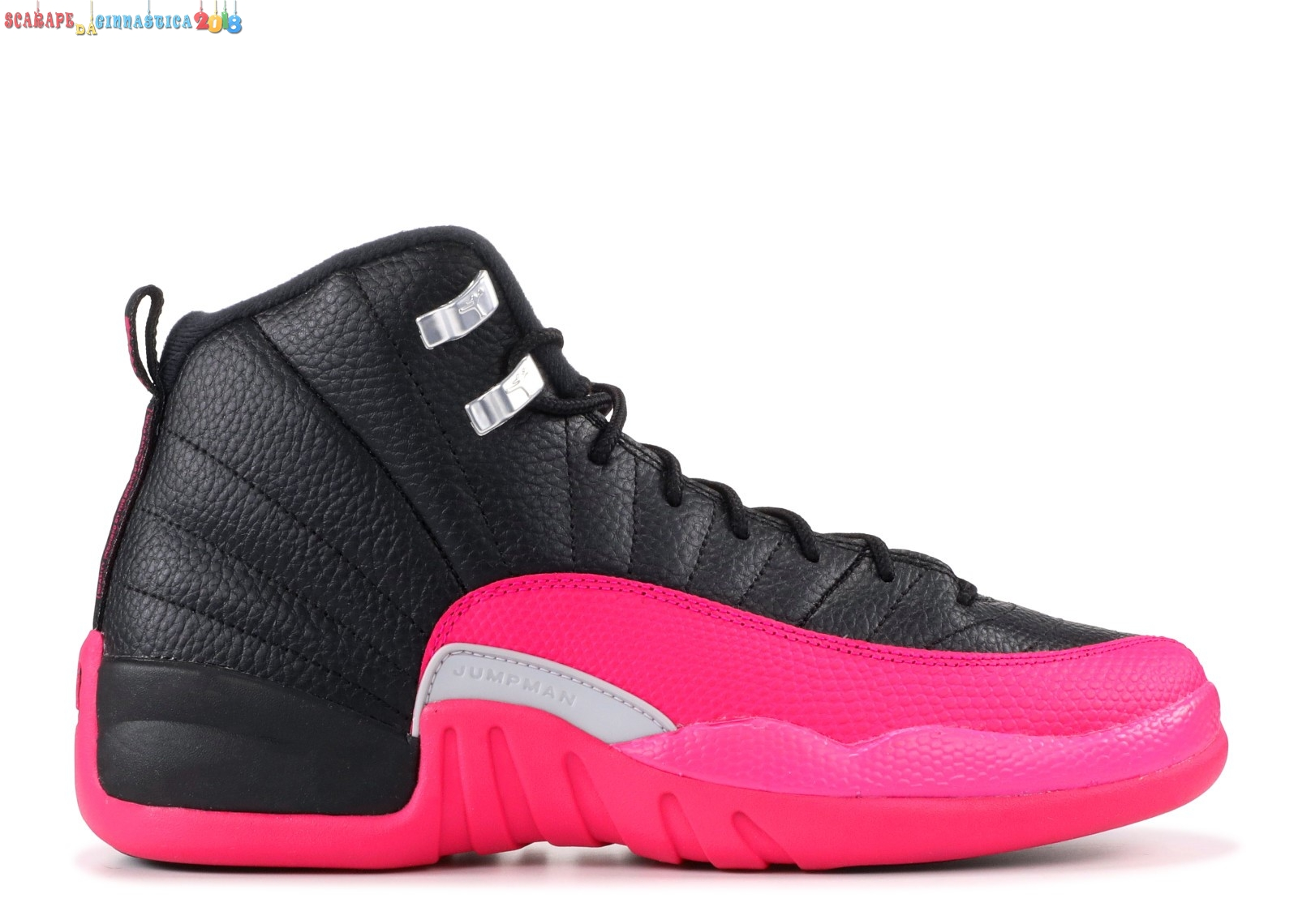 Buy Air Jordan 12 Retro (Gs) Nero Rosa (510815-026) a Poco Prezzo