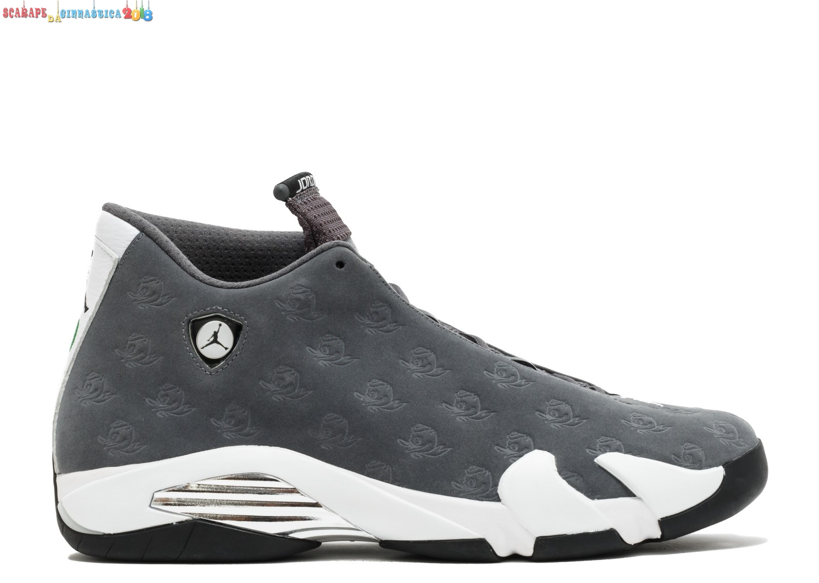"Buy Air Jordan 14 Retro ""Oregon Ducks"" Gris Bianca (fa14mnjdls779625850) - Uomo Online"