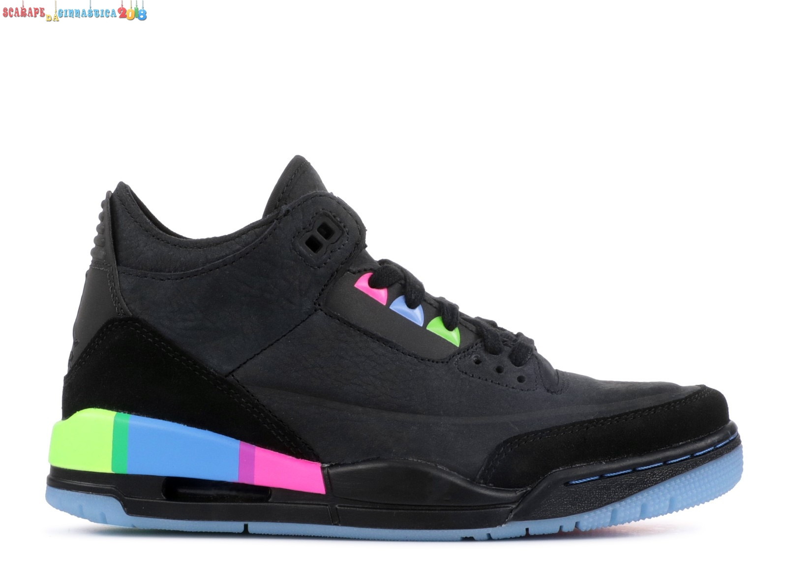 "Buy Air Jordan 3 Retro Se Q54 (Gs) ""Quai54"" Nero Verde (at9194-001) - scarpe basket migliori"
