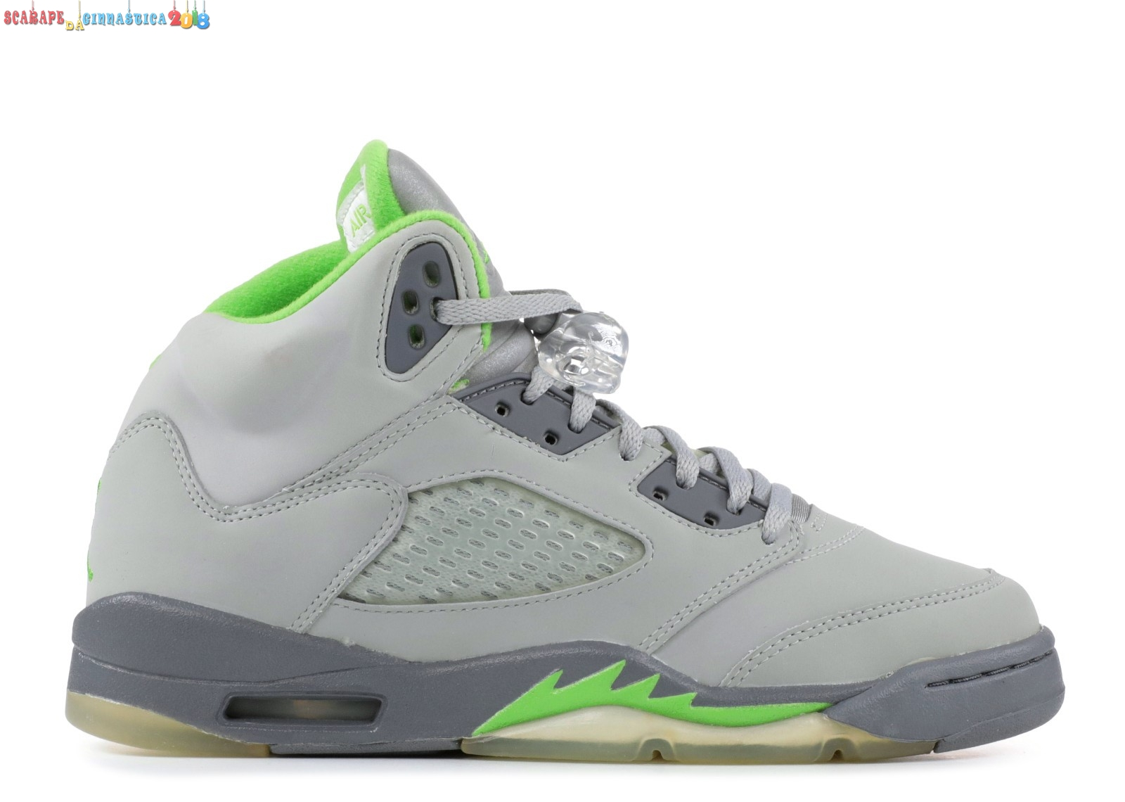 "Buy Air Jordan 5 Retro (Gs) ""Green Bean"" Gris Verde (134092-031) - Scarpe da basket"