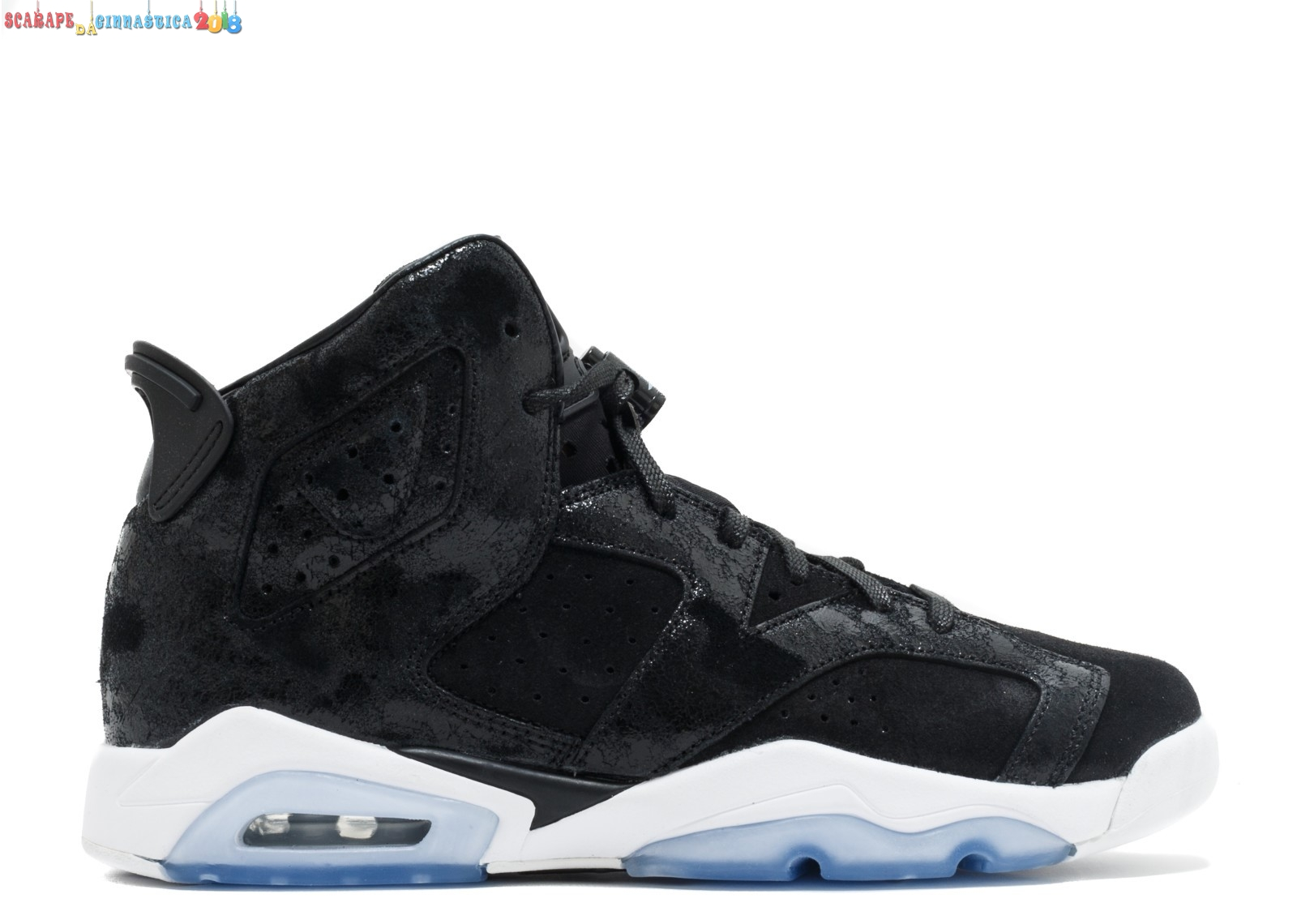 "Buy Air Jordan 6 Retro Prem Hc Gg (Gs) ""Heiress"" Nero Bianca (881430-029) Replica"