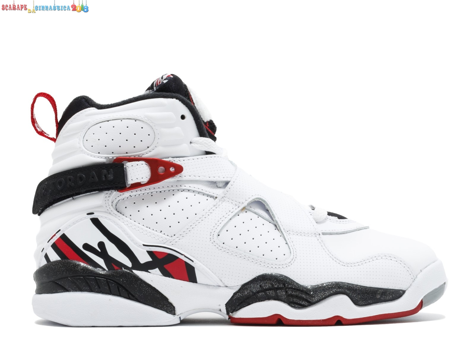 "Buy Air Jordan 8 Retro (Gs) ""Alternate"" Bianca Rosso Gris (305368-104) Scarpe sportive"