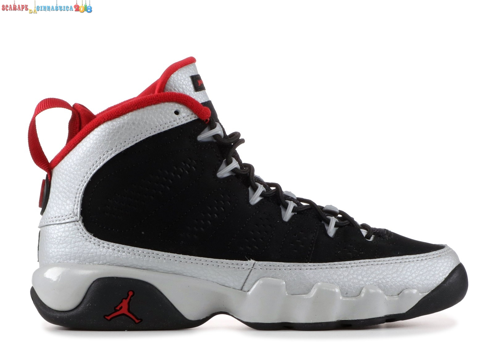 "Buy Air Jordan 9 Retro (Gs) ""Johnny Kilroy"" Nero Metallico Argento (302359-012) - scarpe basket migliori"
