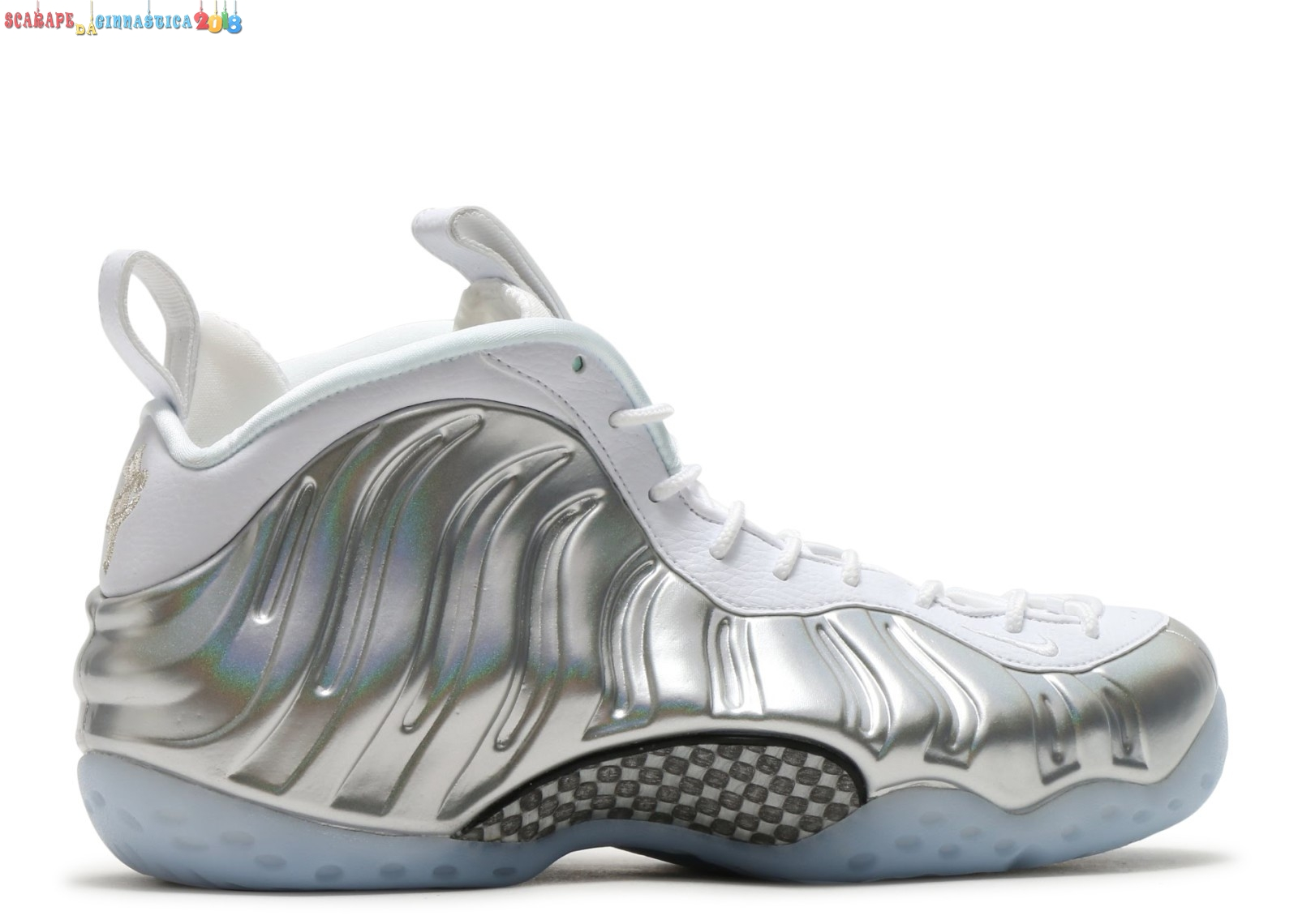 Buy Nike Air Foamposite One Bianca Argento (aa3963-100) - Donna Scarpe sportive