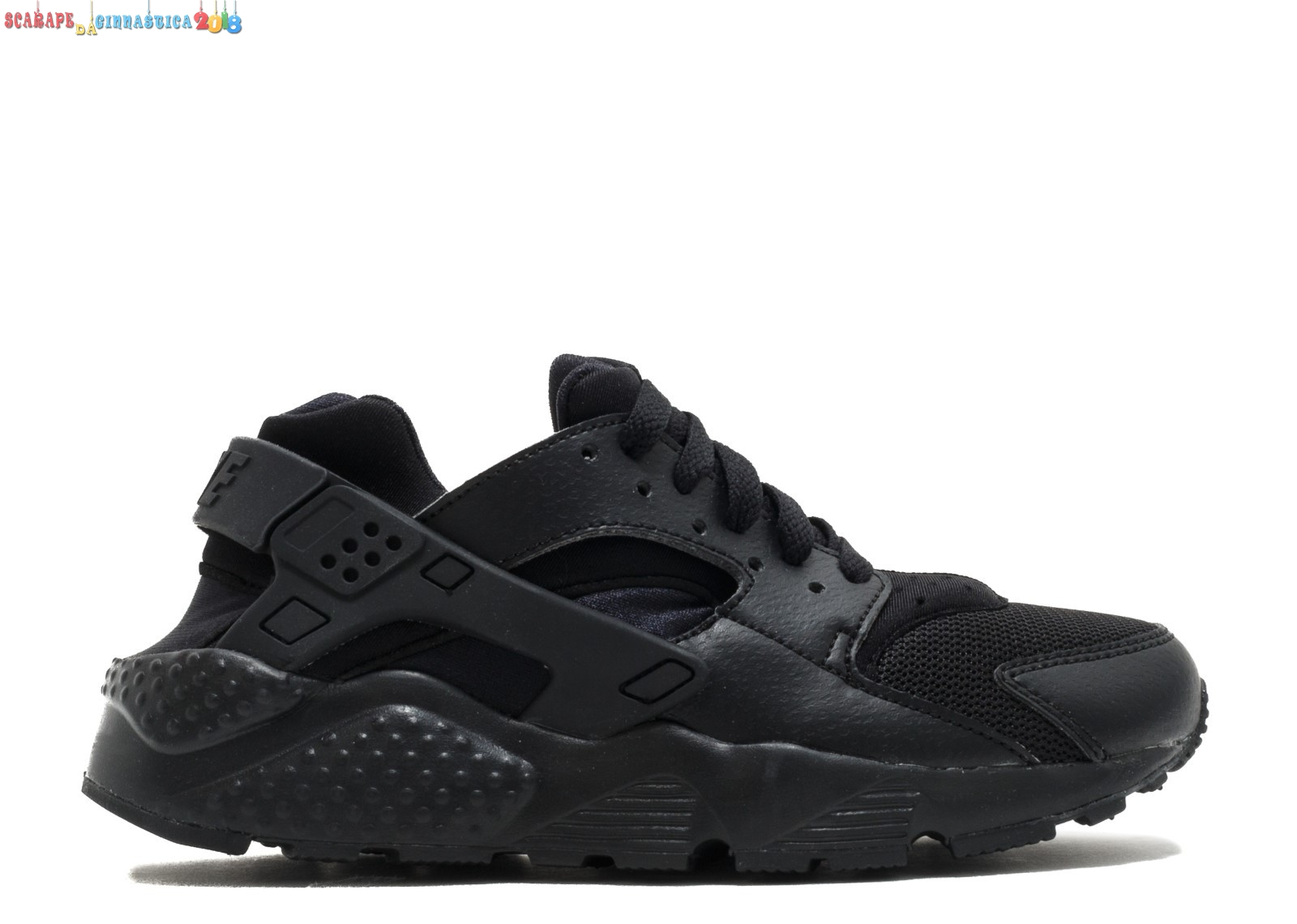 "Buy Nike Air Huarache Run (Gs) ""Triple Nero"" Nero (654275-016) Scarpe sportive"