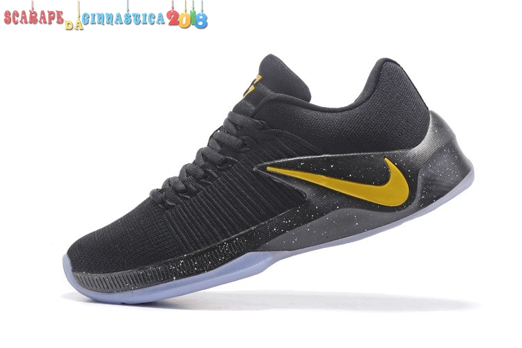 Buy Nike Zoom Clear Out Low Nero Metallico Oro - Uomo - Scarpe da basket