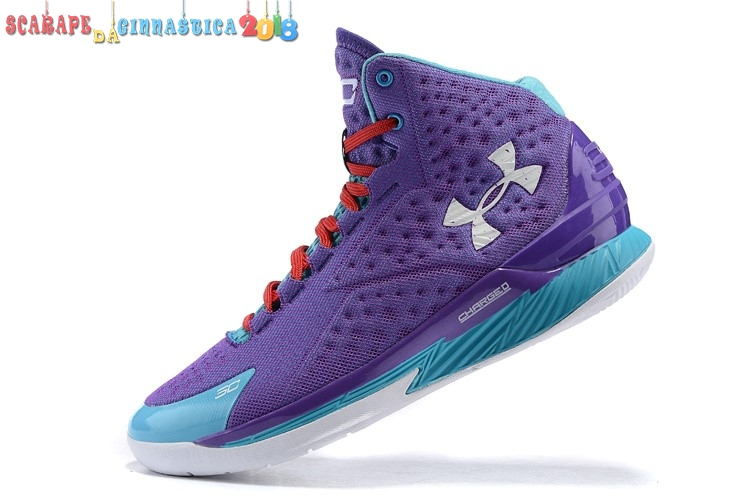 Buy Under Armour Curry 1 Porpora Blu - Uomo - SCARPE BASKET