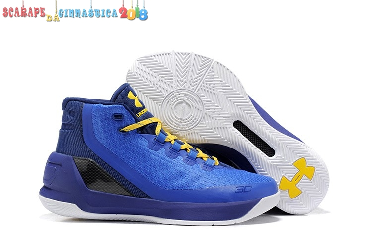 Buy Under Armour Curry 3 Blu Giallo Nero - Uomo - SCARPE BASKET