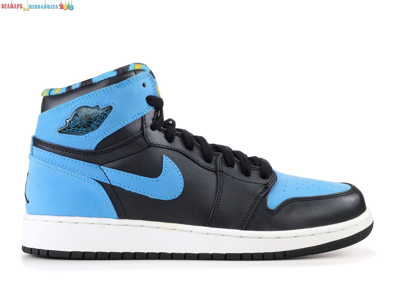 Comprare Air Jordan 1 Retro High (Gs) Nero Blu (332148-041) Online