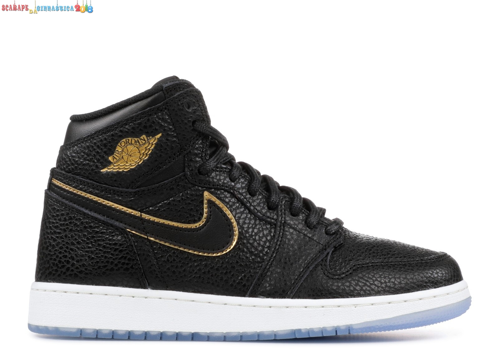 "Comprare Air Jordan 1 Retro High Og (Gs) ""City Of Flight"" Nero Metallico Oro (575441-031) Scarpe sportive"