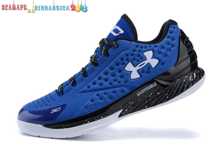 Comprare Under Armour Curry 1 Low Blu Nero Bianca - Uomo Online
