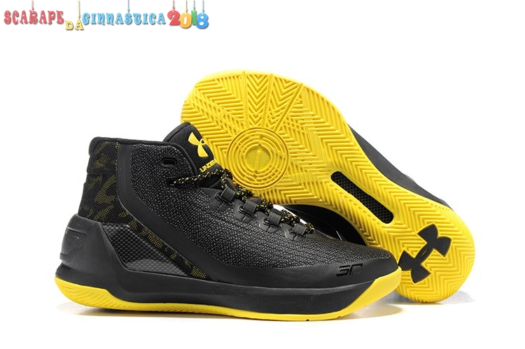 Comprare Under Armour Curry 3 Nero Giallo - Uomo Online