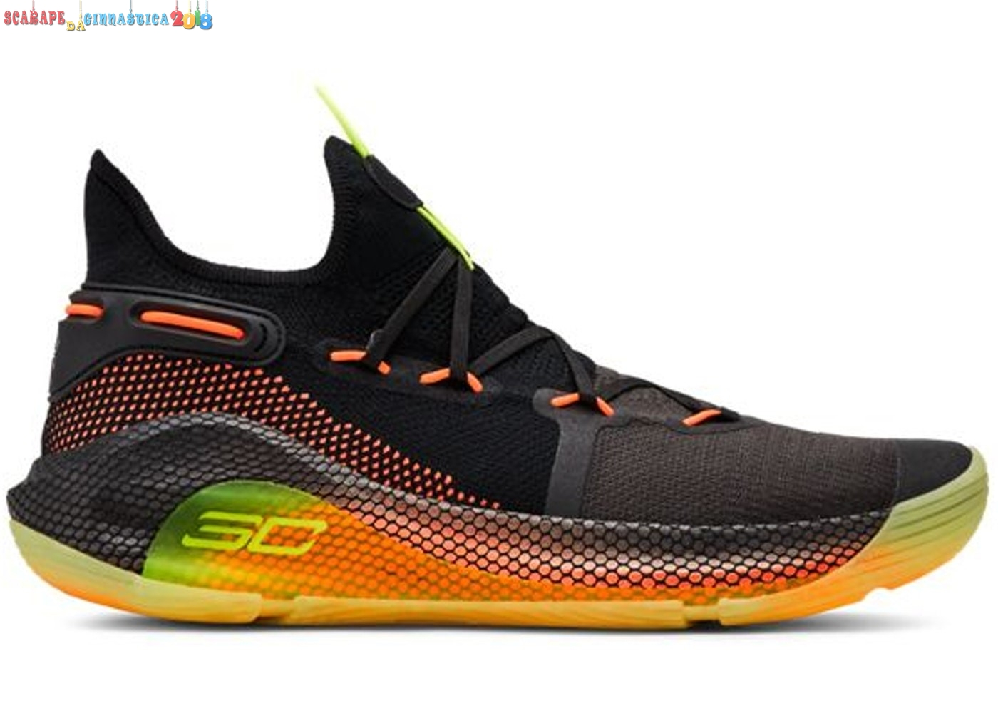 "Comprare Under Armour Curry 6 ""Fox Theatre"" Nero Giallo (3020612-004) - Uomo Online"