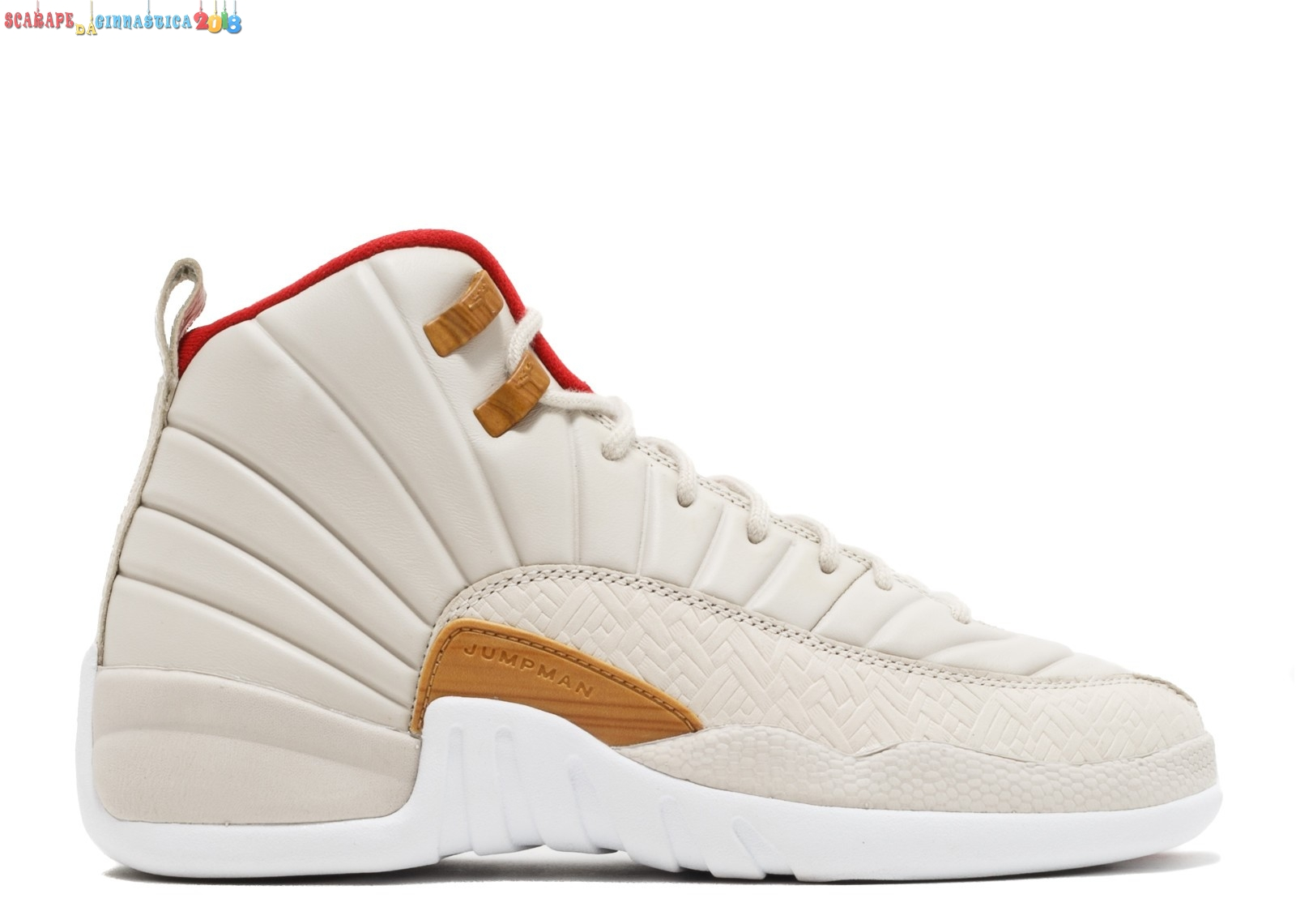 "Nuovi Prodotti Air Jordan 12 Retro Cny (Gs) ""Chinese New Year"" Beige (881428-142) - Scarpe da basket"