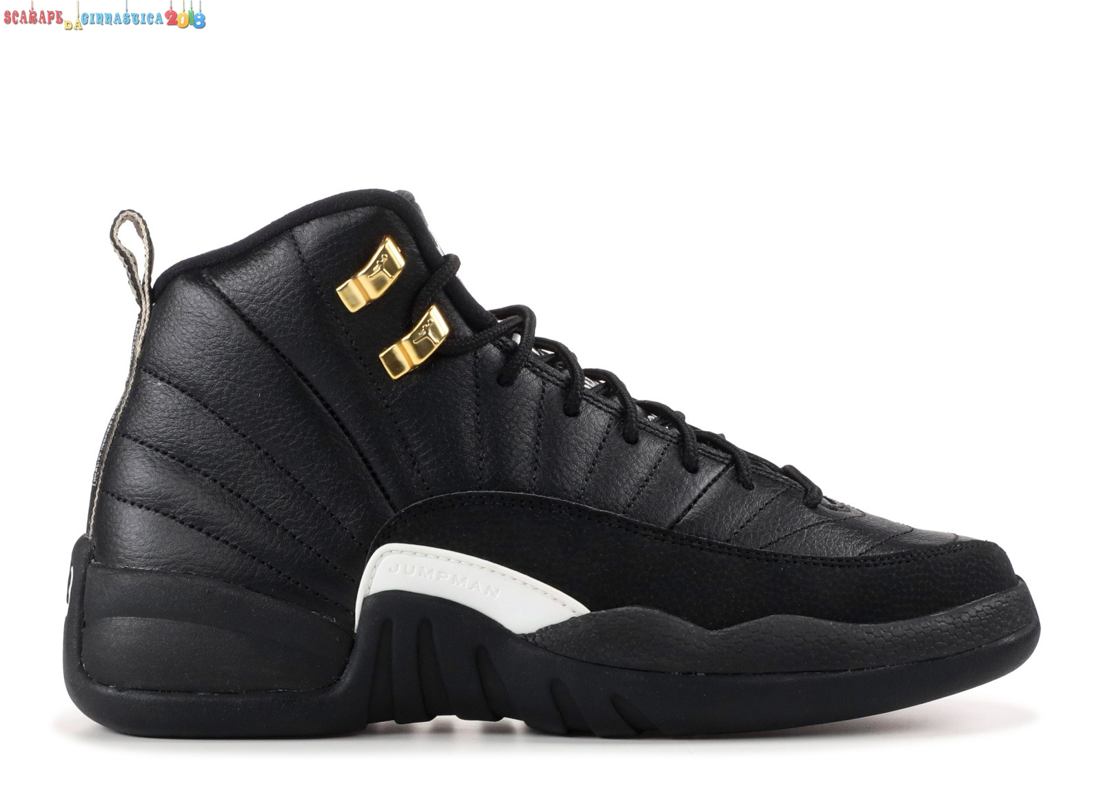 "Nuovi Prodotti Air Jordan 12 Retro (Gs) ""The Master"" Nero Oro (153265-013) Replica"