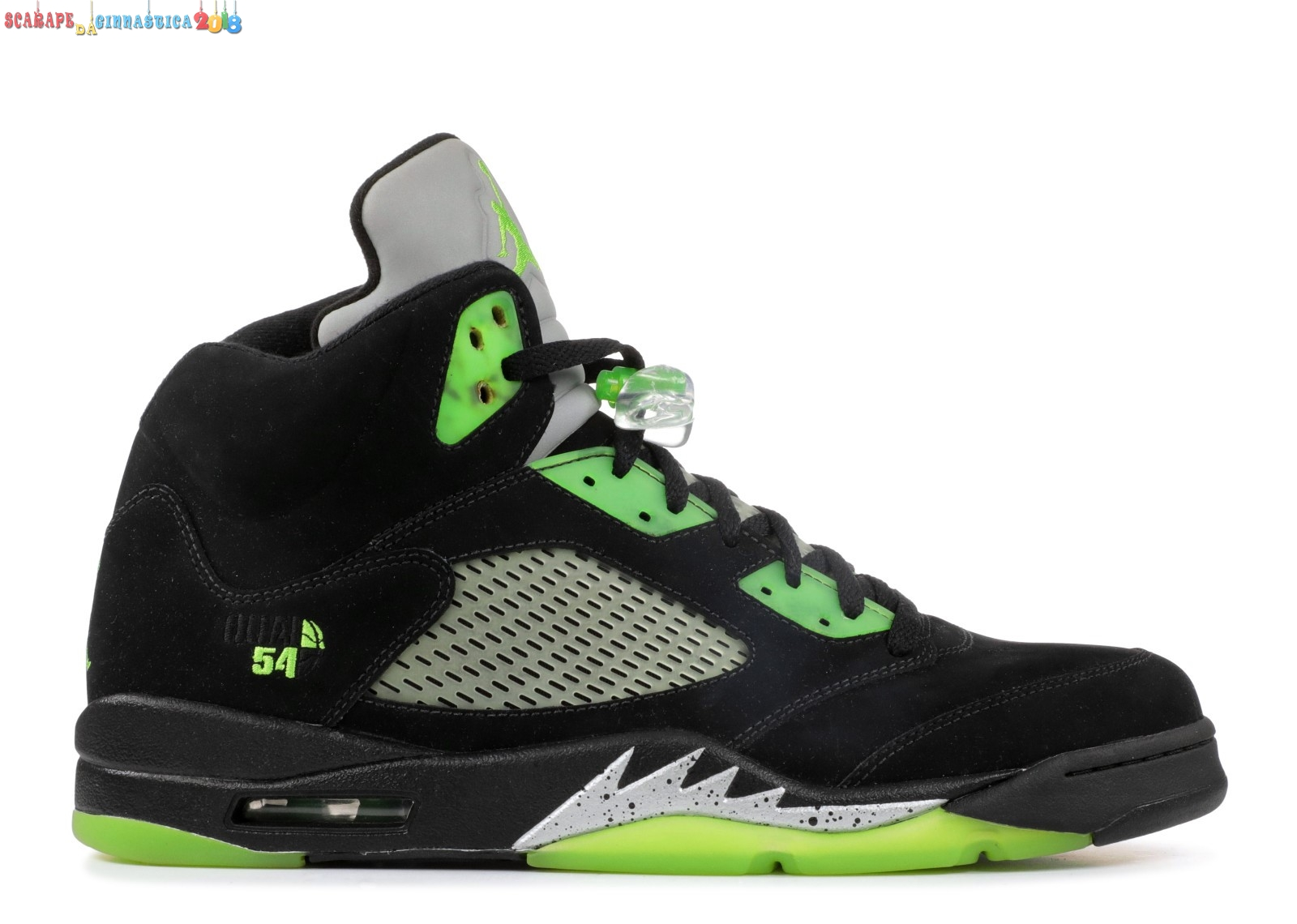"Nuovi Prodotti Air Jordan 5 Retro Q54 ""Quai 54 Friends And Family"" Nero Verde (fa11mnjdls511) - Uomo - Scarpe da basket"