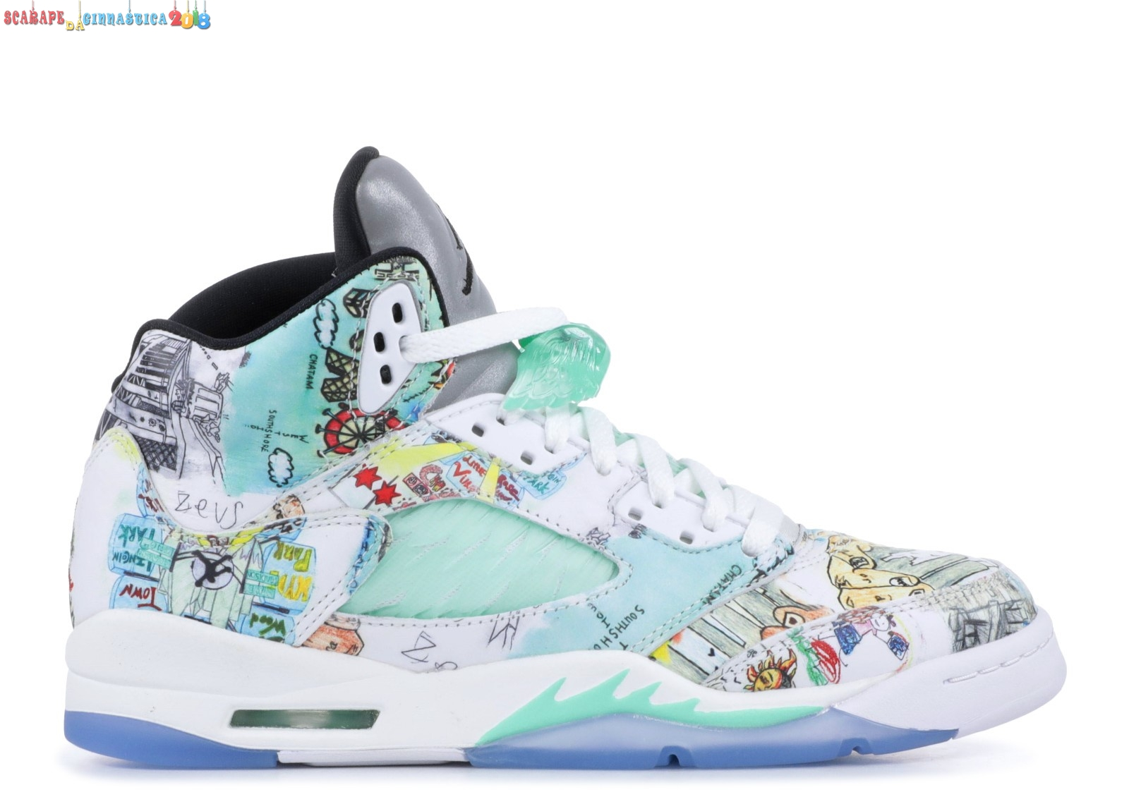 "Nuovi Prodotti Air Jordan 5 Wings (Gs) ""Wings"" Multicolore (av3663-900) Scarpe sportive"