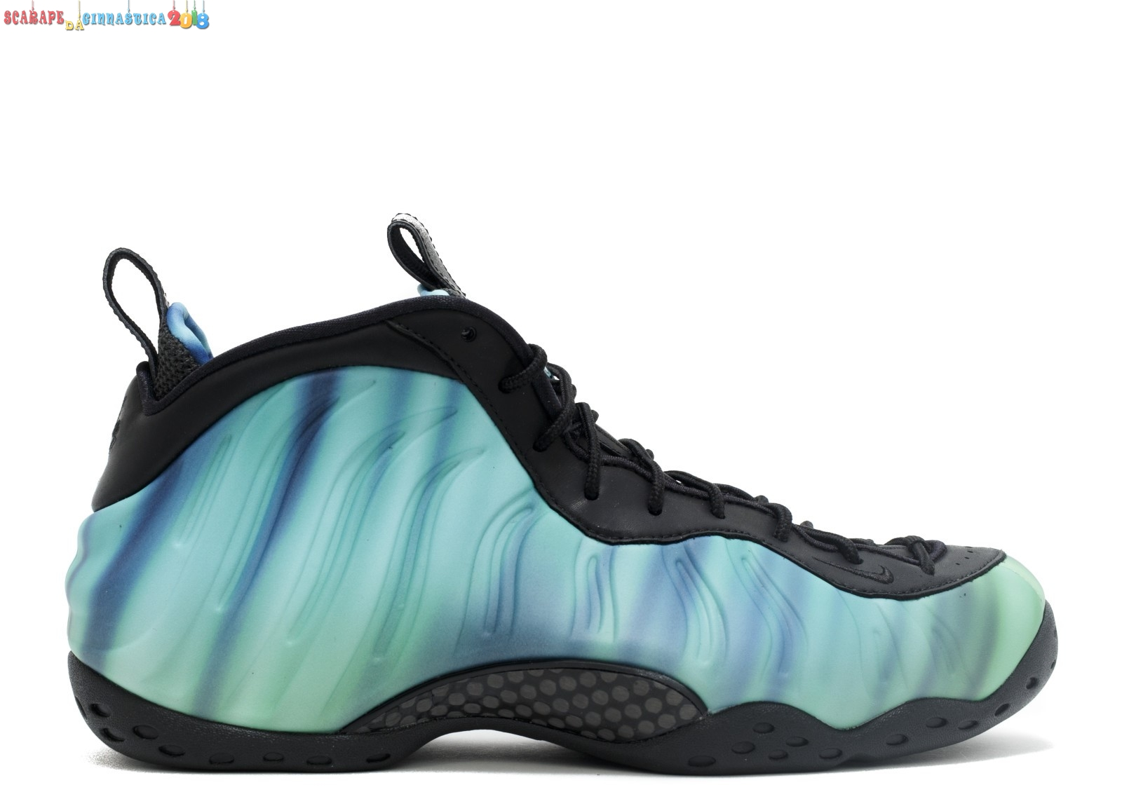 "Nuovi Prodotti Nike Air Foamposite One Prm As Qs ""Northern Lights"" Nero Verde Porpora (840559-001) - Donna - Scarpe da basket"