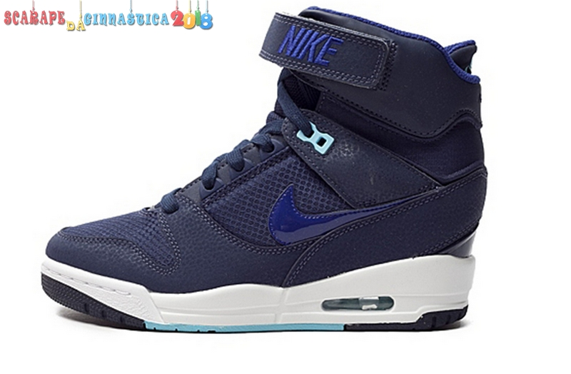 Nuovi Prodotti Nike Air Revolution Sky High Wedge Sneakers Navy Bianca - Donna Scarpe sportive