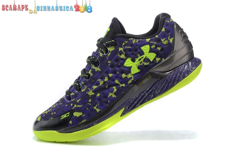 Nuovi Prodotti Under Armour Curry 1 Low Camo Porpora Verde - Uomo Replica