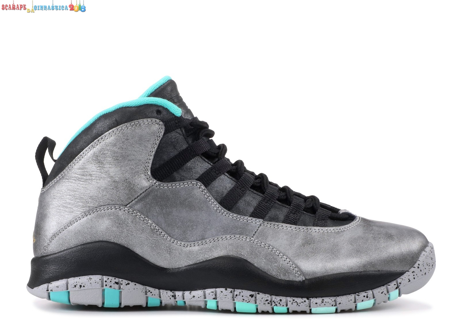 "Popolare Air Jordan 10 Retro ""30Th Lady Liberty"" Gris Nero (705178-045) - Uomo Replica"