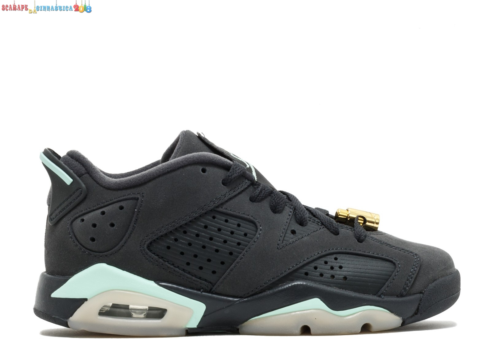 "Popolare Air Jordan 6 Retro Low Gg ""Mint Foam"" Nero (768878-015) - Scarpe da basket"