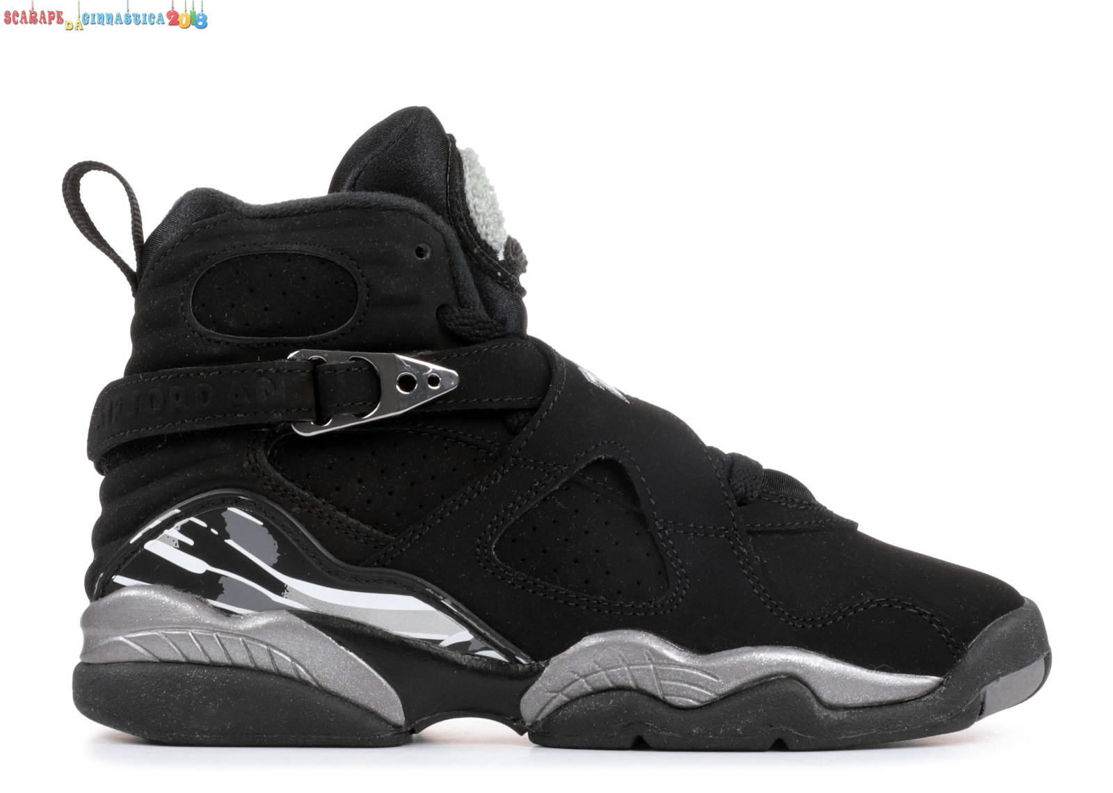 "Popolare Air Jordan 8 Retro (Gs) ""Chrome 2015 Release"" Nero Gris (305368-003) Online"
