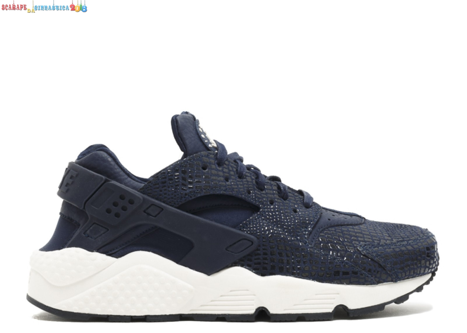Popolare Nike Air Huarache Run Print Nero (725076-401) - Donna Replica