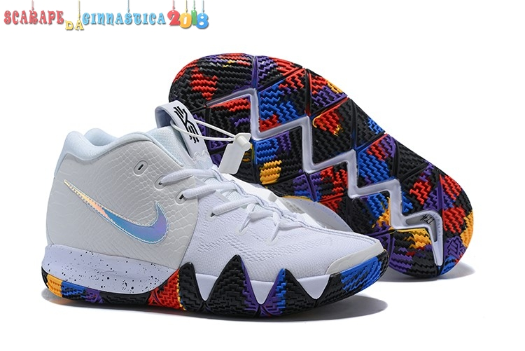 "Popolare Nike Kyrie Irving Iv 4 Ncaa ""March Madnes"" Bianca Multicolore - Uomo Online"
