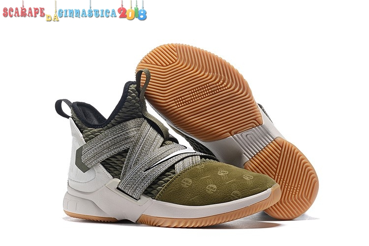 "Popolare Nike Lebron Soldier Xii 12 ""Land And Sea"" Oliva Verde - Uomo Online"