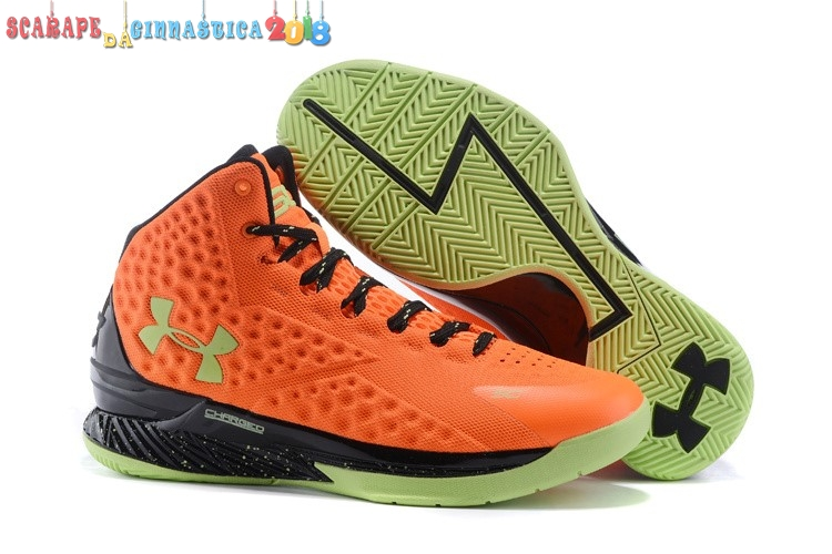 "Popolare Under Armour Curry 1 ""Bolt Orange"" Arancia Nero - Uomo - SCARPE BASKET"