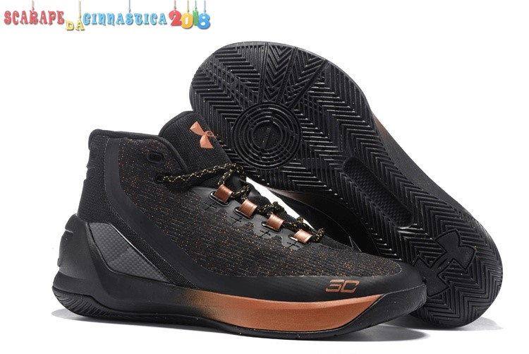 "Popolare Under Armour Curry 3 ""All Star Brass Band"" Nero - Uomo - SCARPE BASKET"